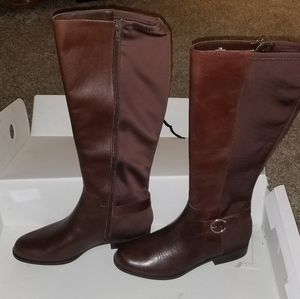 Nine West Couldbe brown leather boots size 7